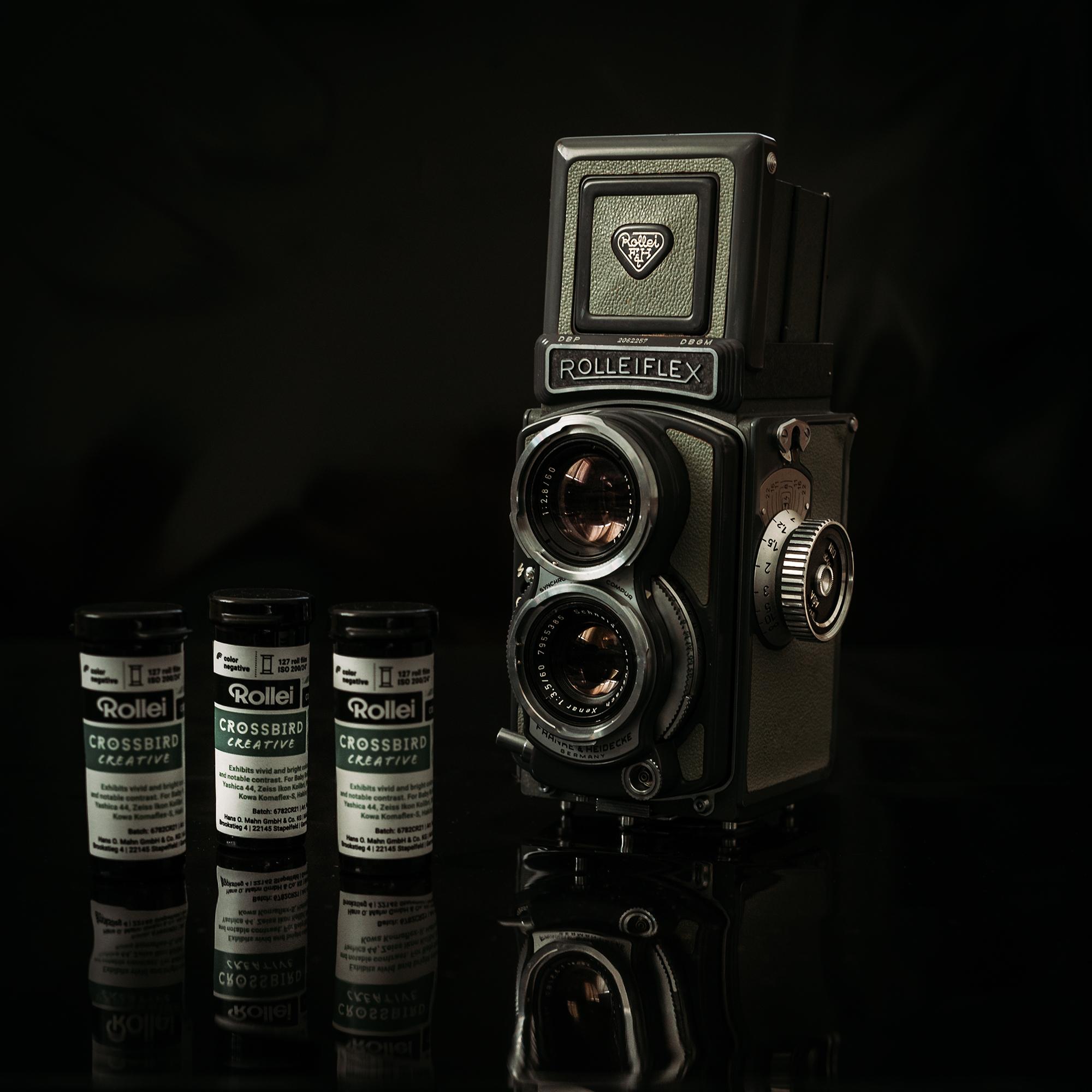 Baby Rolleiflex mit 127 Rollfilm Crossbird